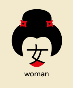 ideogramma donna