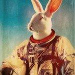coniglio in tuta spaziale