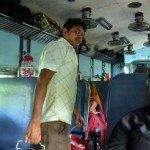 Passeggero treno per Calcutta, India