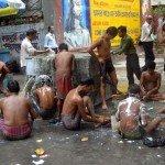 Bagni pubblici a Calcutta