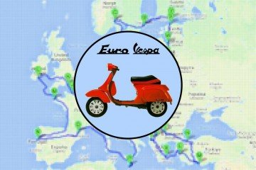 Euro Vespa, il viaggio in Vespa di Simone Sciutteri